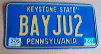 Pa Vanity License Plate by Pennsylvania Vanity License Plate La Rebel Louisiana