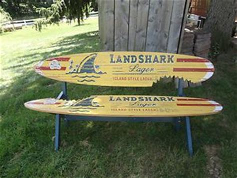 landshark surfboard bench landshark beer surfboard sign new landshark lager surfboard bench jimmy buffet beer