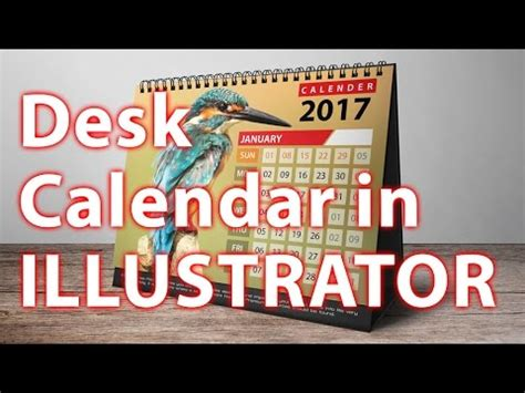how to make desk calendar in illustrator illustrator tutorial create a calendar in adobe illust