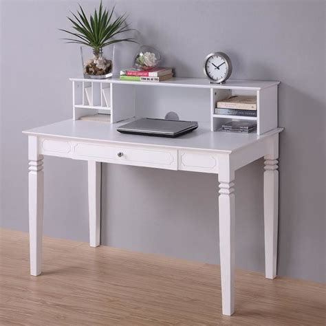 white wood computer desk with hutch contemporary desks