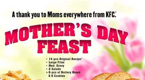 Kfc S Day Special Kfc Canada Mother S Day Deals 5 Fill Ups And Free 10