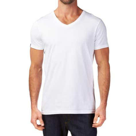 T Shirt Kaos Reef los hombres de algod 243 n en blanco con cuello en v t camisa