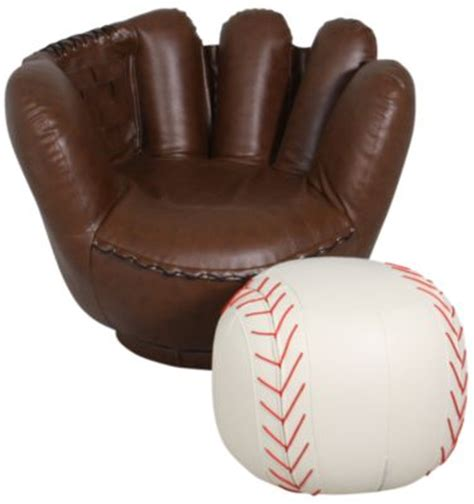 baseball chair and ottoman crown mark baseball glove chair ottoman homemakers