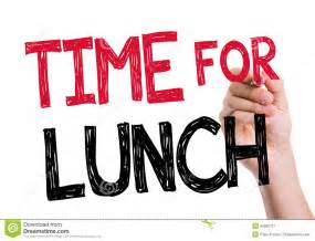 What Time Is Lunch by Time For Lunch Written On The Wipe Board Stock Photo