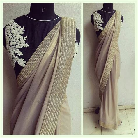 Rosette Blouse the rosette blouse with a shimmer georgette sari coffee