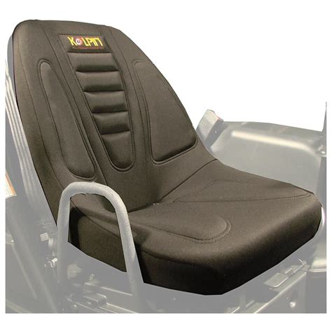 utv seat covers 2 kolpin 174 neoprene heated utv seat covers black