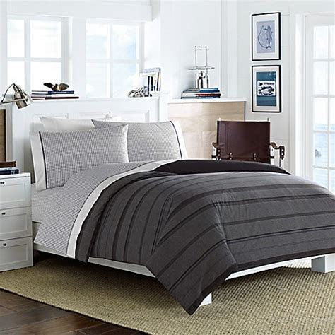 nautica twin xl comforter set nautica 174 sebec comforter set in grey bed bath beyond
