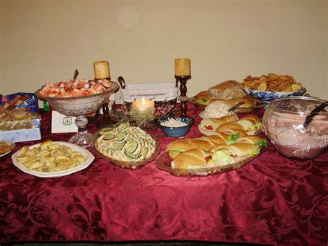 christmas eve buffet ideas