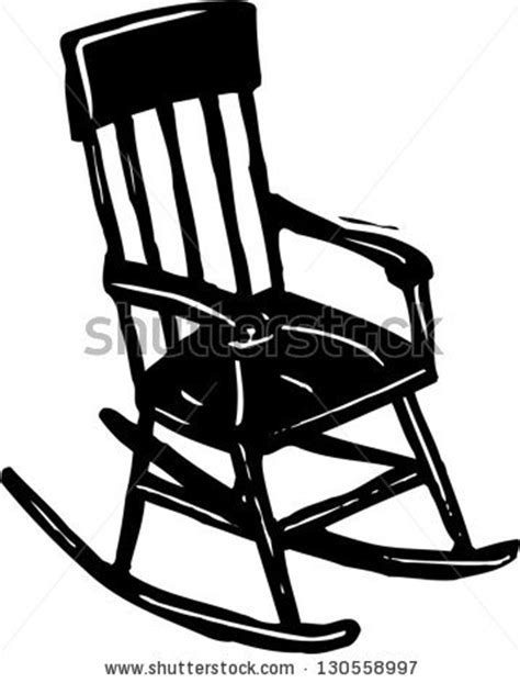 Black And White Rocking Chair by Black And White Vector Illustration Of A Rocking Chair