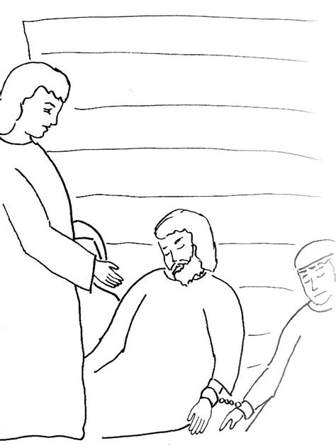 free coloring page paul in prison paul in prison coloring page az coloring pages
