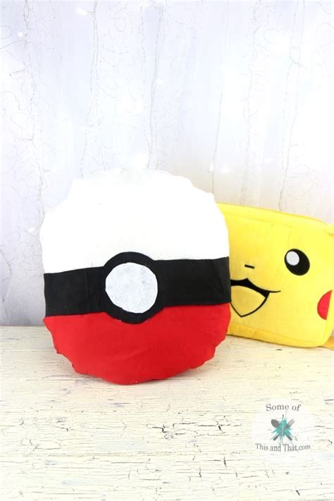diy pokeball pillow no sew nerdy crafts some of this