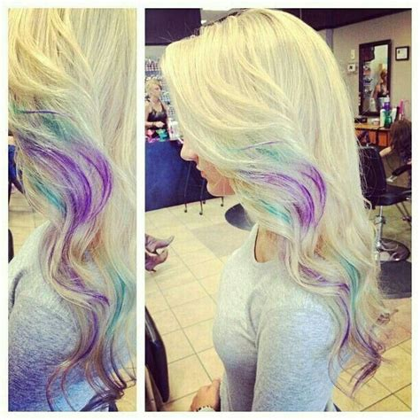 hairstyles with blonde and purple highlights platinum blonde with purple highlights hairstyles