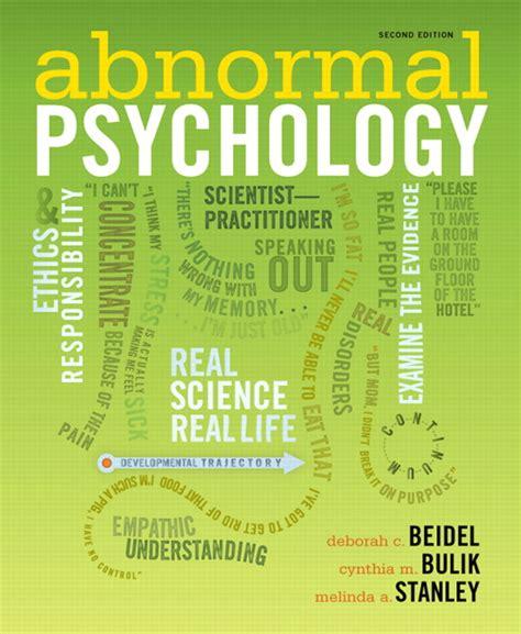 abnormalpsych personality beidel bulik stanley abnormal psychology pearson