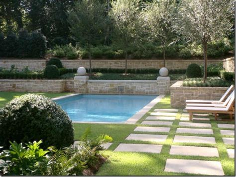landscaping around pools home and garden spas rectangle swimming pool landscaping