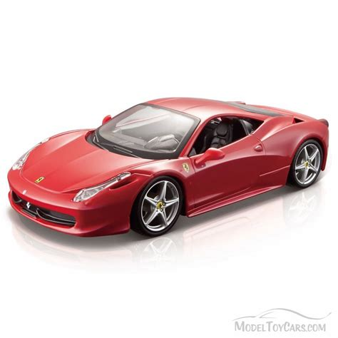 toy ferrari model cars ferrari 458 italia hard top red bburago 26003 1 24