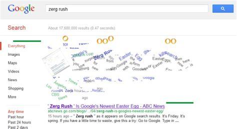 google imagenes zerg rush zerg rush easter egg eats your google search results