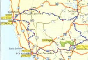 map of california nevada and arizona nevada california a arizona in a week