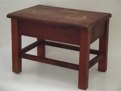 old bench seat vintage solid oak stool old bench seat for desk or child