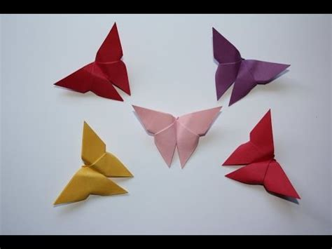 How To Make A Paper Butterfly Easy - how to make a origami paper butterfly easy diy simple