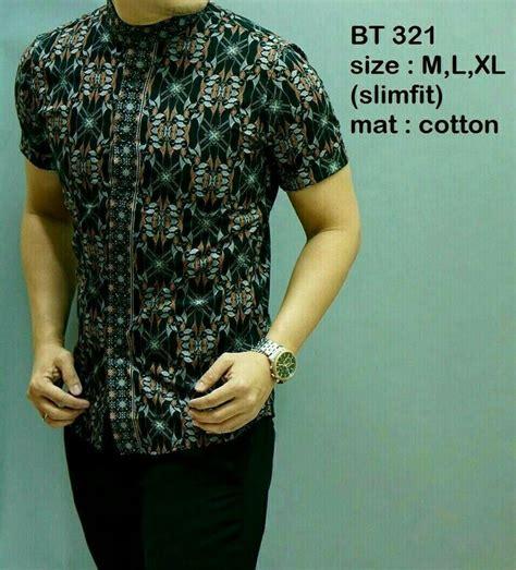 Kemeja Batik Pria Slim Fit Lengan Pendek Bt 308 kemeja batik pria lengan pendek murah bt 321 baju batik