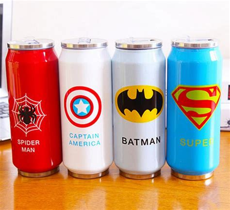 Vacuum Bottle Thermos Karakter Kartun Heroes 4 color big thermos mug stainless steel cup vacuum flasks thermal bottle kid child