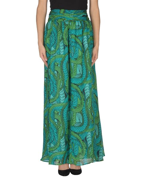issa printed maxi skirt nile in green lyst