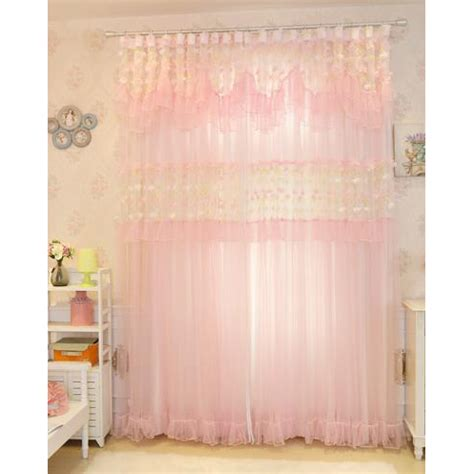 Pink Sheer Curtains Pink Lace Princess Beautiful Bedroom Sheer Curtains