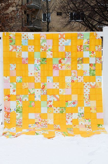 Solid Yellow Quilt by Random Vintage Bright Solid Quilts