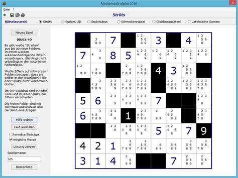 sudoku gitter leer str8ts mathematik alpha
