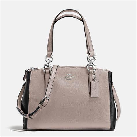 Coach Mini coach mini christie carryall colorblock crossgrain leather