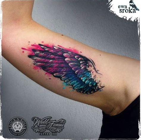 watercolor tattoo wings 32 best wing tattoos for and watercolor