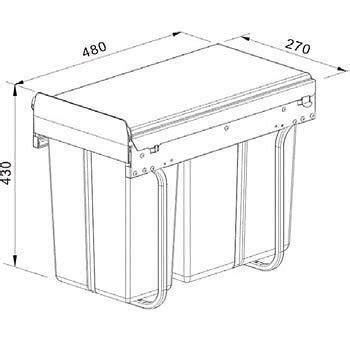 kitchen garbage wastebasket cabinet pull out waste basket new pull out kitchen waste bin under sink cabinet