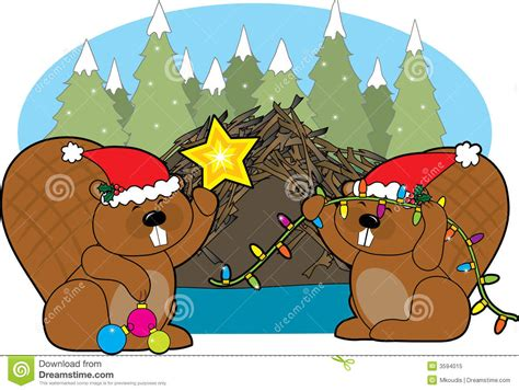 Canadian Home Design Blogs beaver christmas royalty free stock photo image 3594015