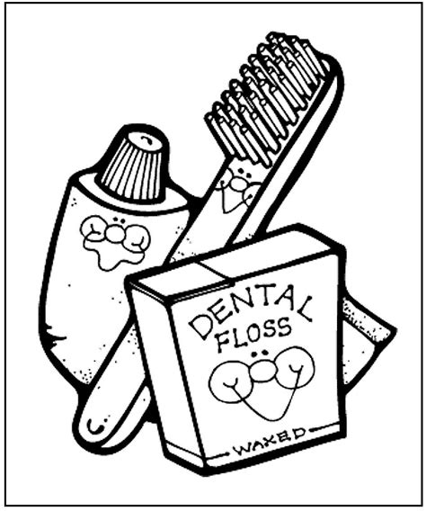 fun online printable dental health coloring pages for kids