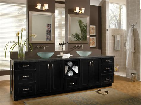 bathrooms with black cabinets room ornament