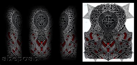 celtic and bali inspired sleeve by meatshop tattoo on celtic style half sleeve by shepush on deviantart