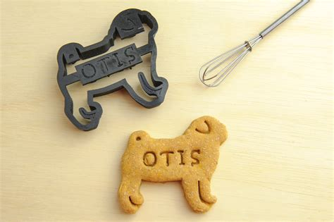 treat cookie cutters pug cookie cutter custom treat personalized pet