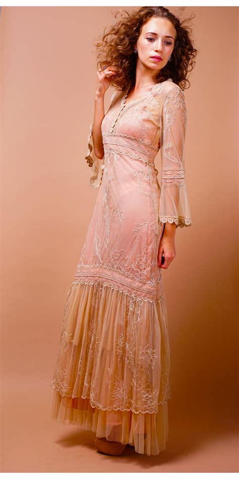 Natahua Dress titanic wedding dress in pink chagne by nataya
