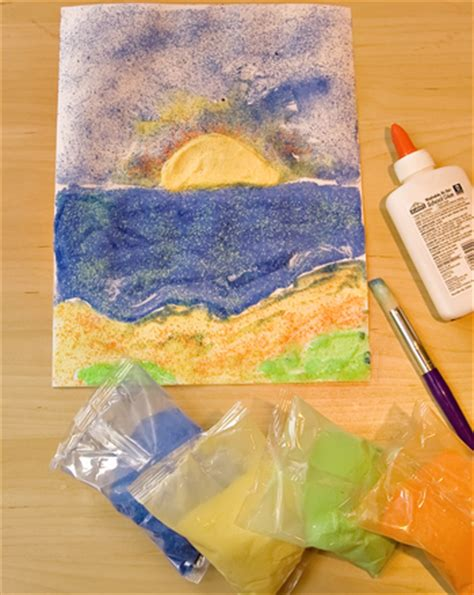 sand craft projects seascape activity education