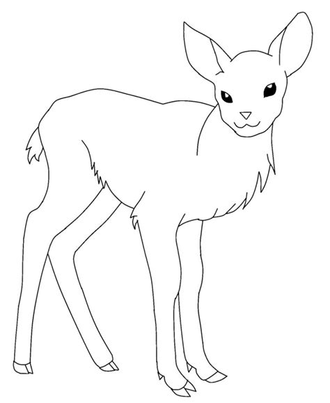 Coloring Pictures Of Deer Az Coloring Pages Baby Deer Coloring Pages