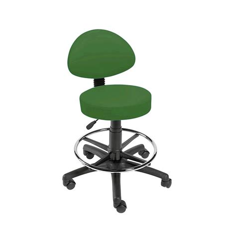 Green Stool And Gas by Sunflower Green Gas Lift Stool With Back Rest And