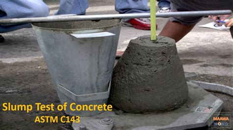 Slump Test slump test of concrete astm c143 urdu by maawa