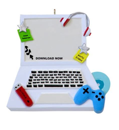 teenage computer personalized christmas ornament