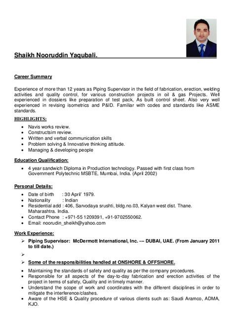 production supervisor resume sle resume sle for production manager 100 images