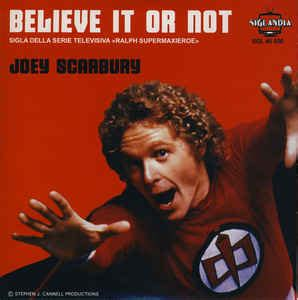 theme song believe it or not joey scarbury believe it or not vinyl at discogs