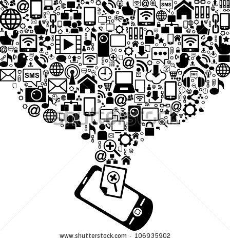 black media take out black media take out products black media phones screen take off social media stock vector 106935902
