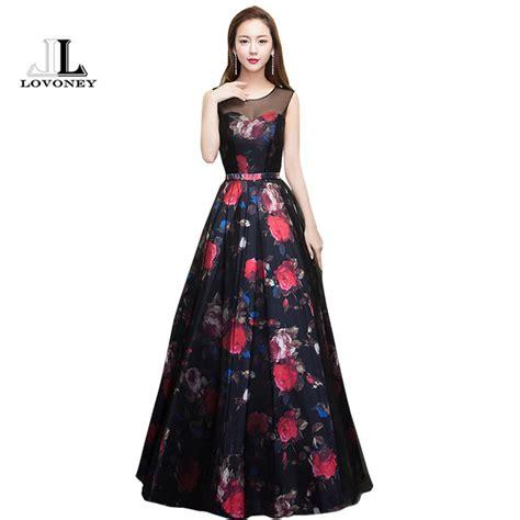 flower pattern gowns lovoney 2017 new design flower pattern elegant evening