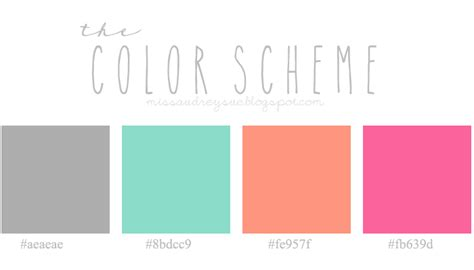 color schemes blog design megan hauze photo miss audrey sue