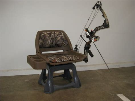 boat seat pedestal caddy home made ground blind chair consists of folding boat seat