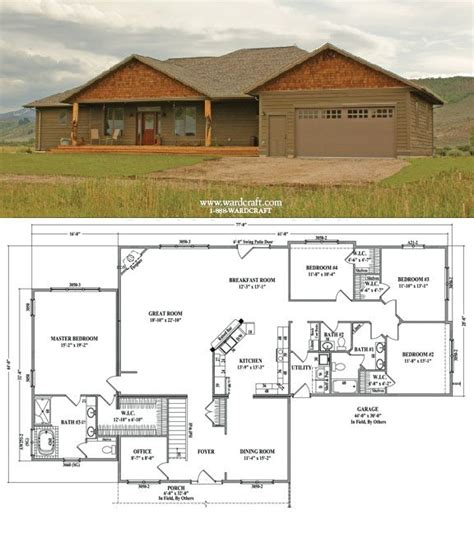 Garage Organization Floor Plans Woodworking Projects Plans 4 Bedroom House Plans With Office